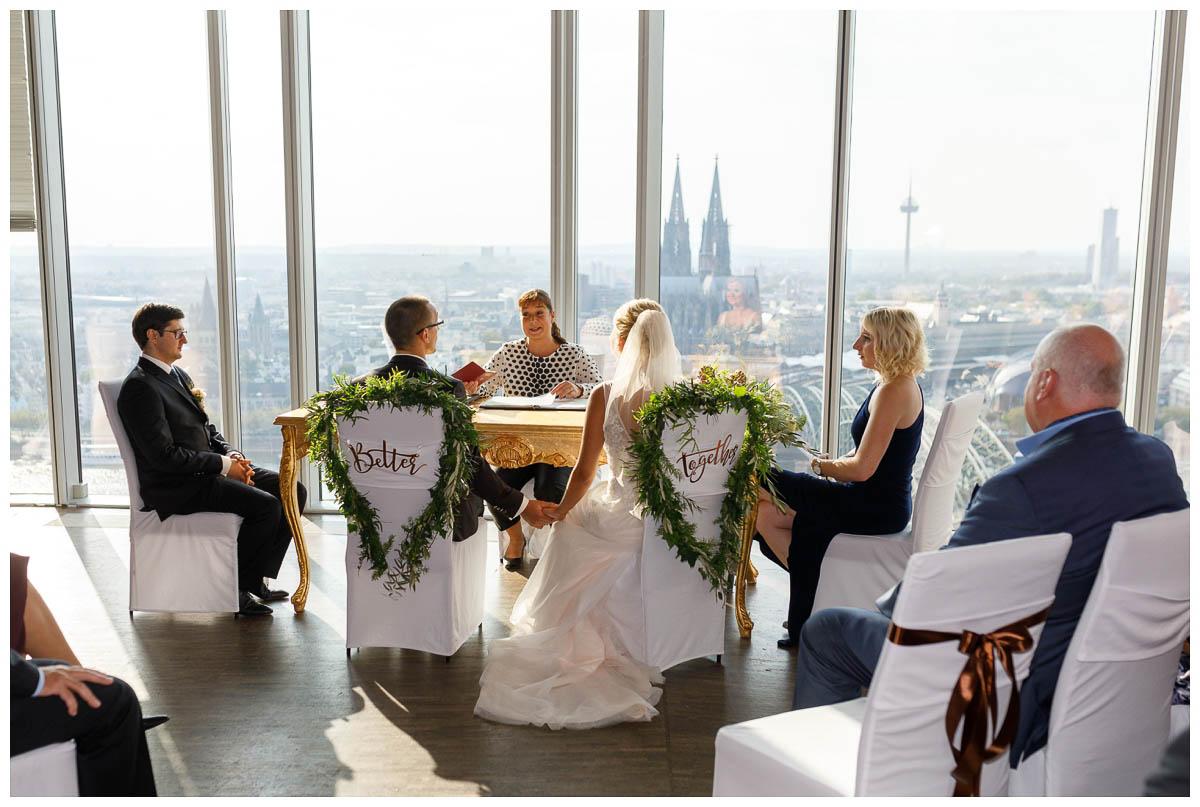 Standesamtliche Hochzeit Köln Sky
